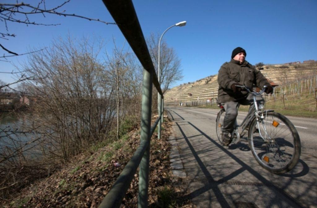 Am Neckar entlang führt die bei Radfahrern beliebte Strecke. Foto: Michael Steinert