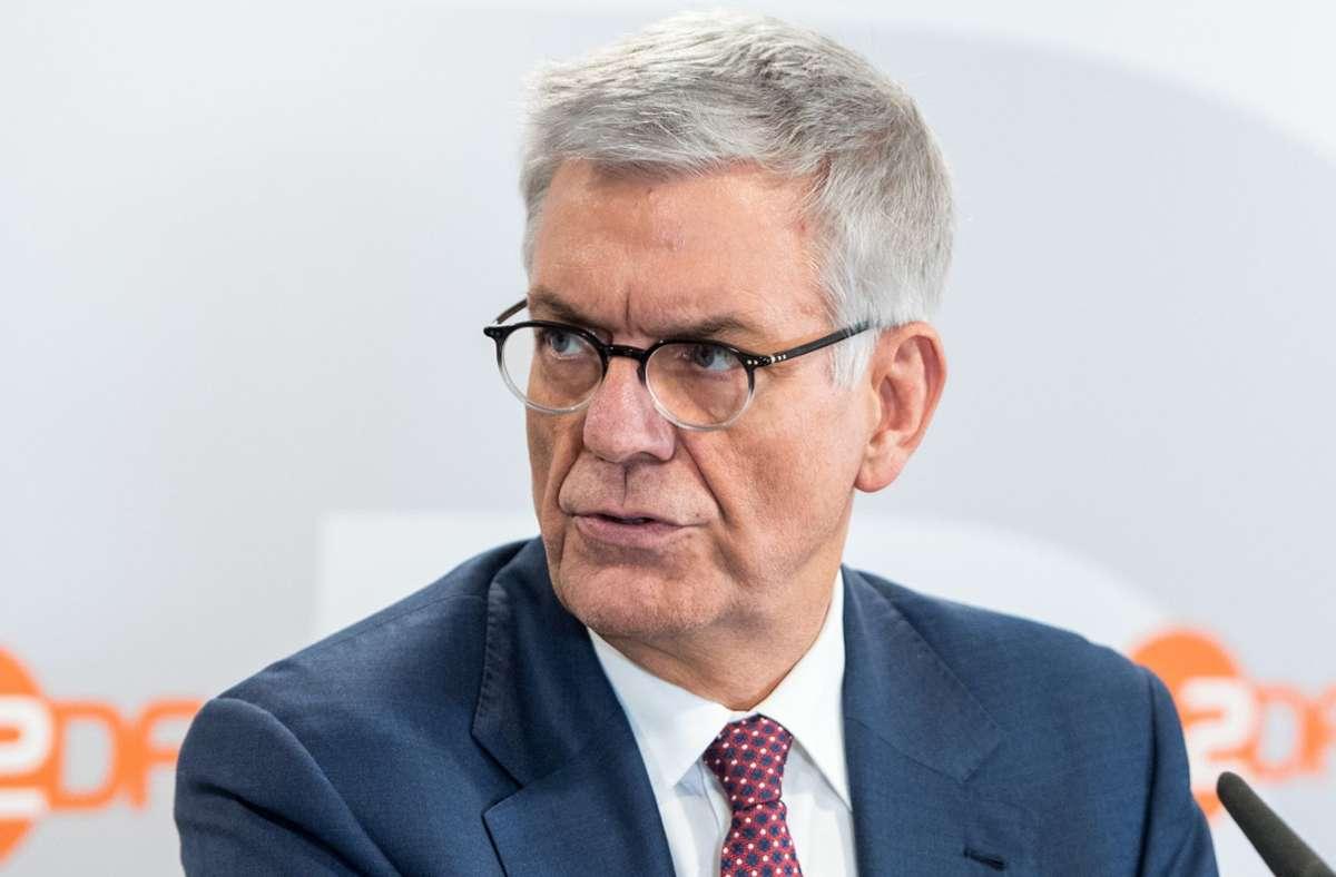 Der Intendant Thomas Bellut verspricht  die fortlaufende Erneuerung des ZDF. Foto: dpa/Daniel Bockwoldt