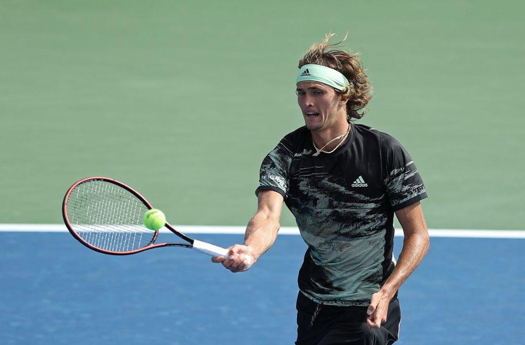 Alexander Zverev steht in der zweiten Runde der US Open. Foto: AFP