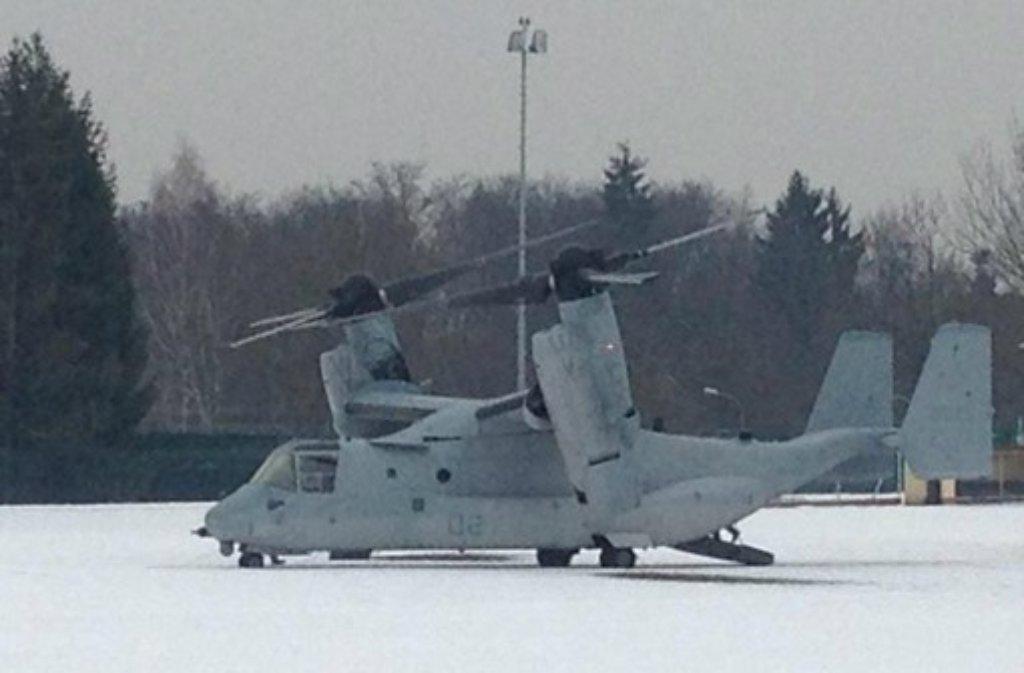 Das US Marine Corps demonstrierte Kapazität und Leistungsfähgkeit der MV-22B Osprey und ... Foto: Mike Goldberg/Twitter