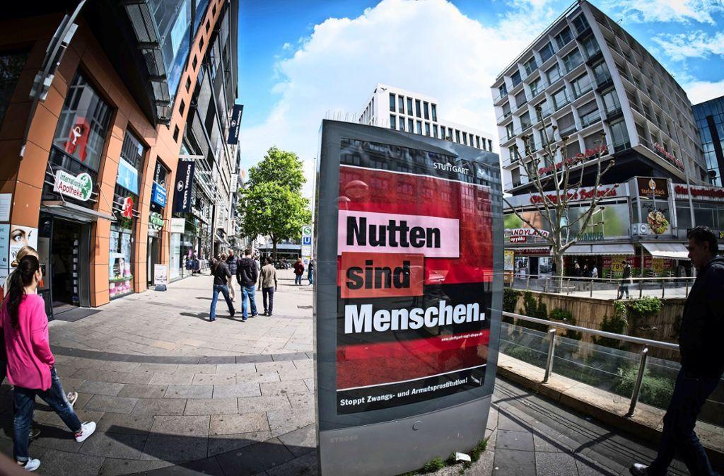 Diese Plakatkampagne hat der Stadt viel Kritik eingebracht. Foto: Lichtgut/Achim Zweygarth