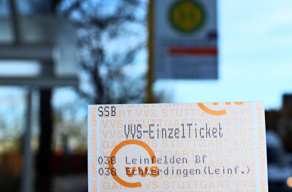 Mit dem Stadtticket gibt es keine Zonen in L.-E. und Filderstadt mehr. Foto:
