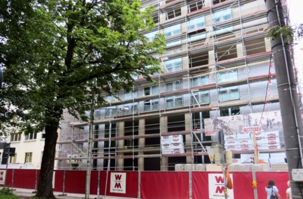 Der Bau des neuen Bürokpmlexes Foto: red