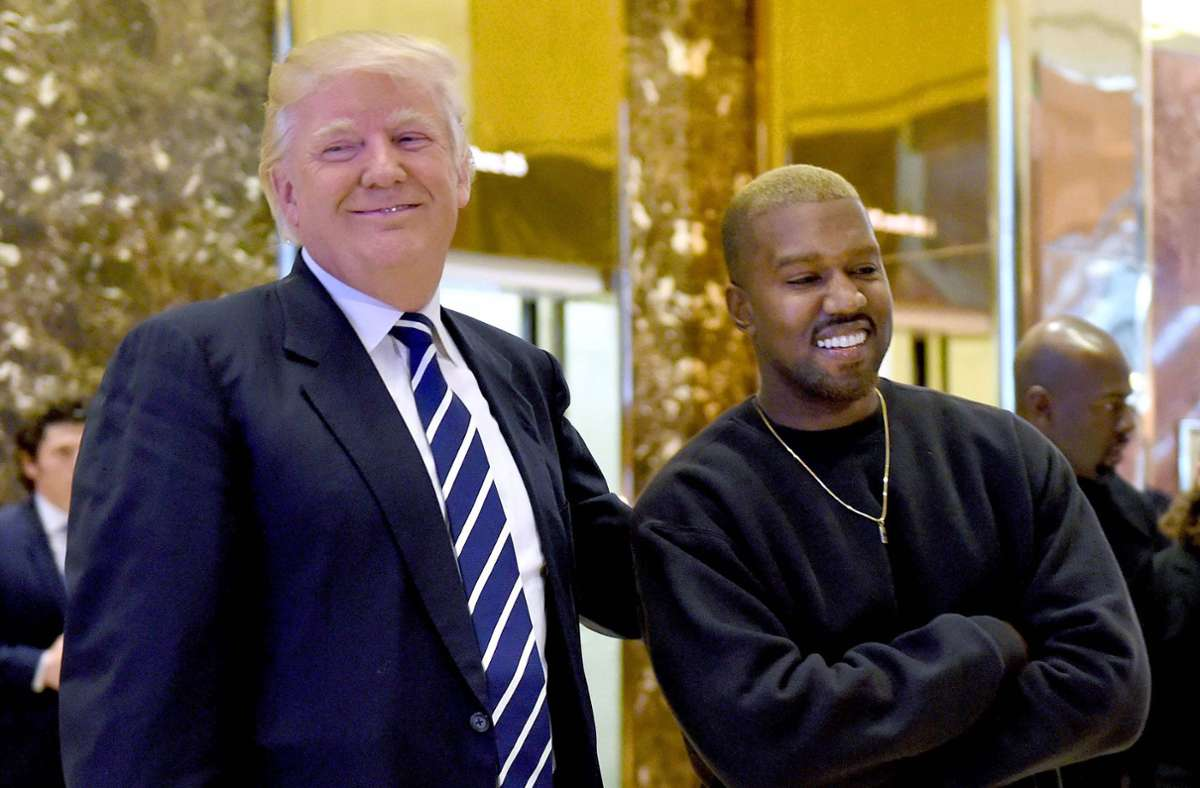 Kanye West zeigte sich zeitweise als großer Fan von US-Präsident Donald Trump Foto: AFP/TIMOTHY A. CLARY