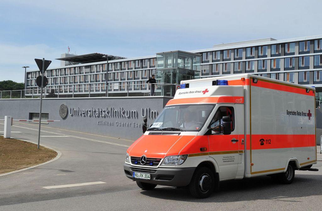 Das Universitätsklinikum in Ulm (Symbolbild). Foto: picture alliance / dpa/Stefan Puchner
