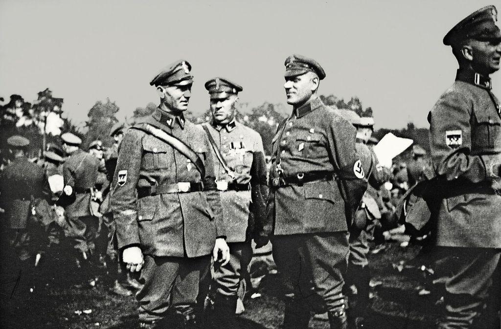 Parteimitglieder bei der NS-Sonnwendfeier im Juni 1923 auf dem Teckberg. Foto: Horst Rudel