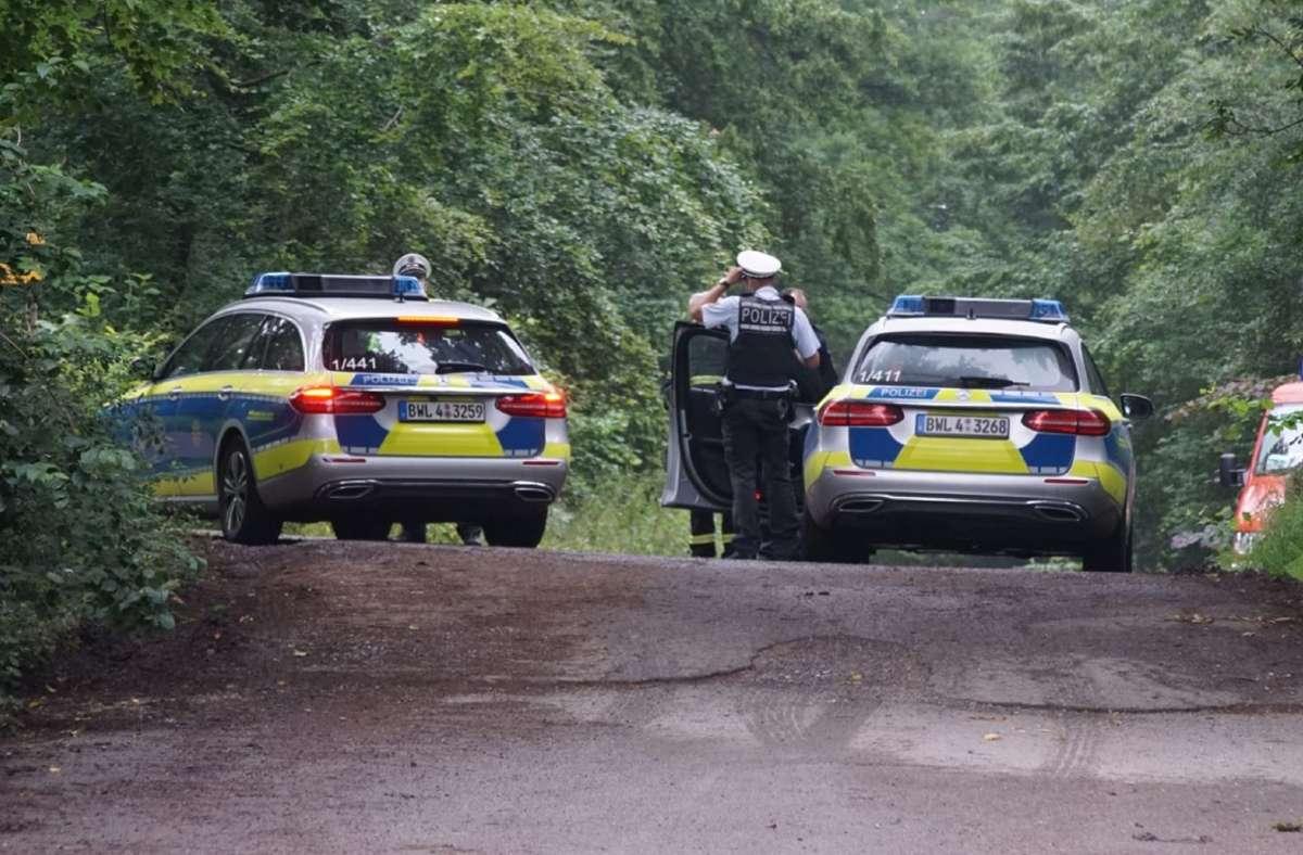 Die Polizei sichert die Unglücksstelle bei Steinenbronn ab. Foto: dpa/Sdmg