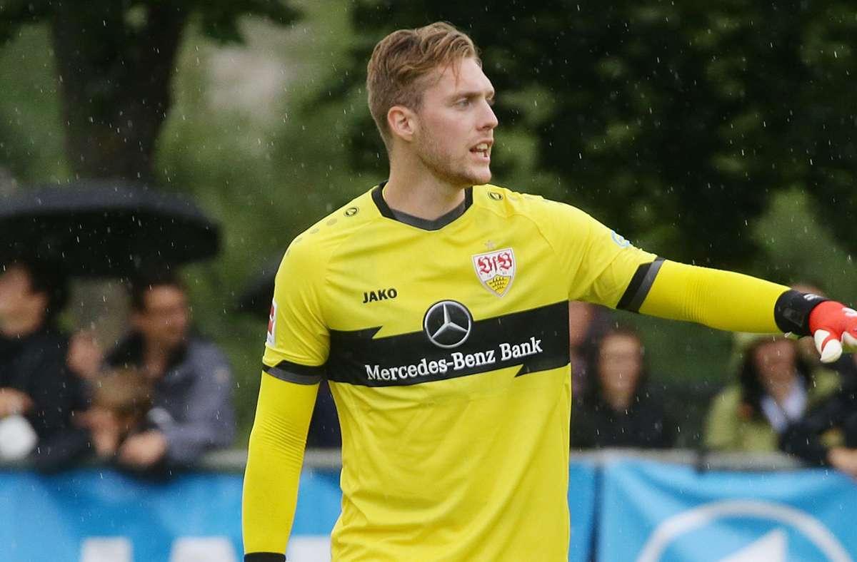 Florian Müller (23, Torhüter, Vertrag bis 2025): Müller war die klare Wunschlösung des VfB Stuttgart und hat sich nun den Schwaben angeschlossen. Vorerst bei Olympia im Einsatz. Tendenz: Geht als klare Nummer eins in die Saison. Foto: Pressefoto Baumann