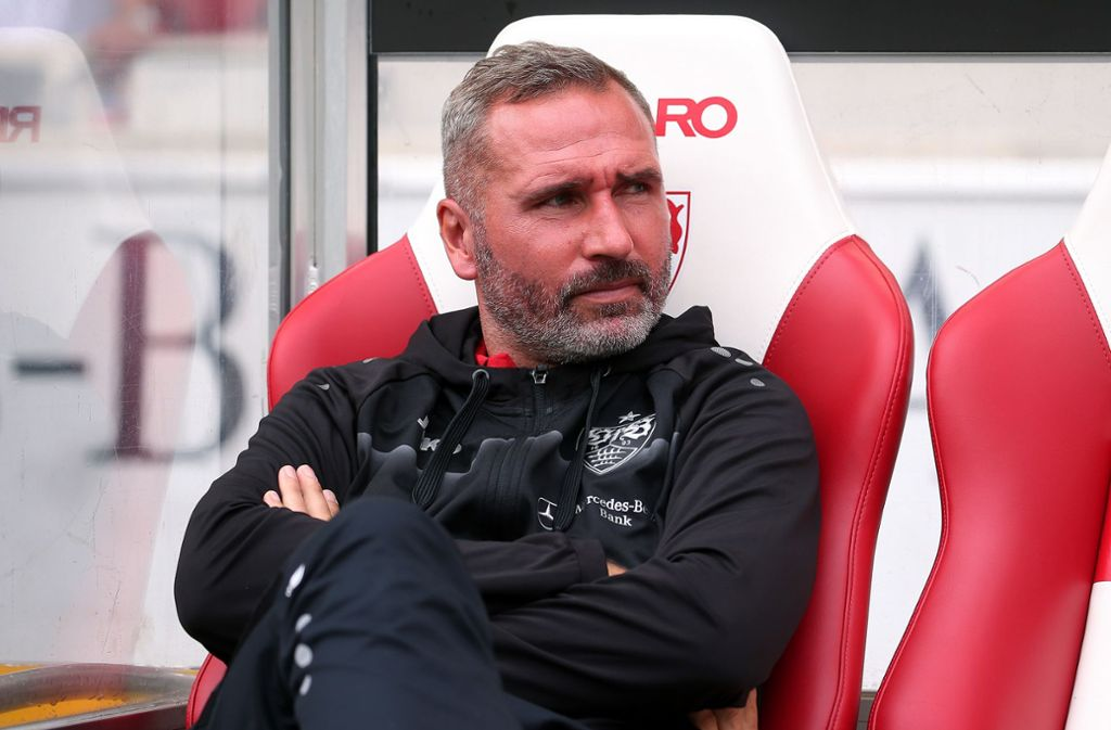 VfB-Trainer Tim Walter steht zu seinen Aussagen. Foto: Pressefoto Baumann