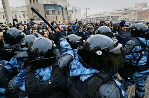 Festnahmen bei Protesten für Nawalny