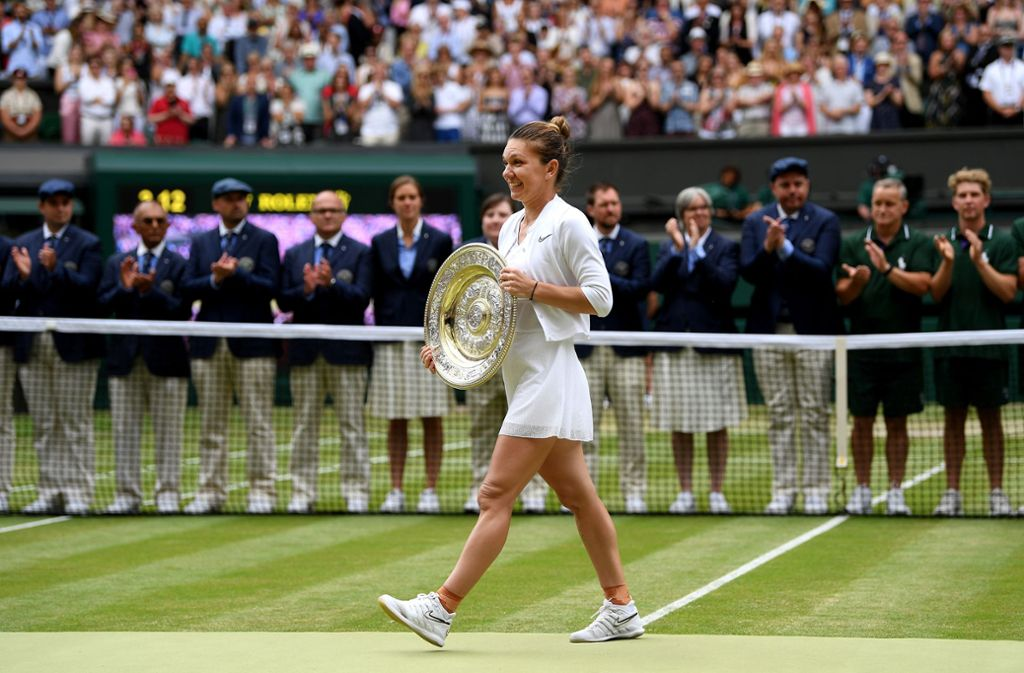 Simona Halep hat zum ersten Mal Wimbledon gewonnen. Foto: Getty Images