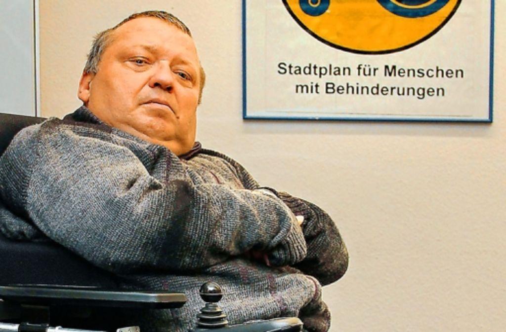 Friedrich Müller kämpft für ein behindertenfreundlicheres Stuttgart. Foto: Factum/Weise