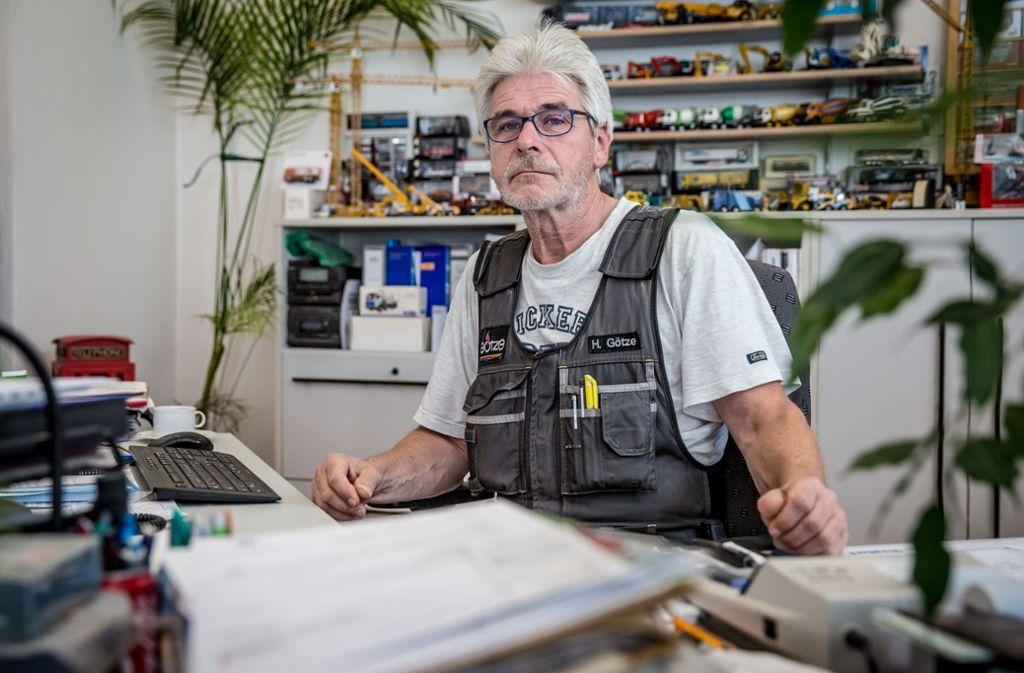 Harald Götze in seinem Büro im Stuttgarter Westen Foto: Lichtgut/Julian Rettig