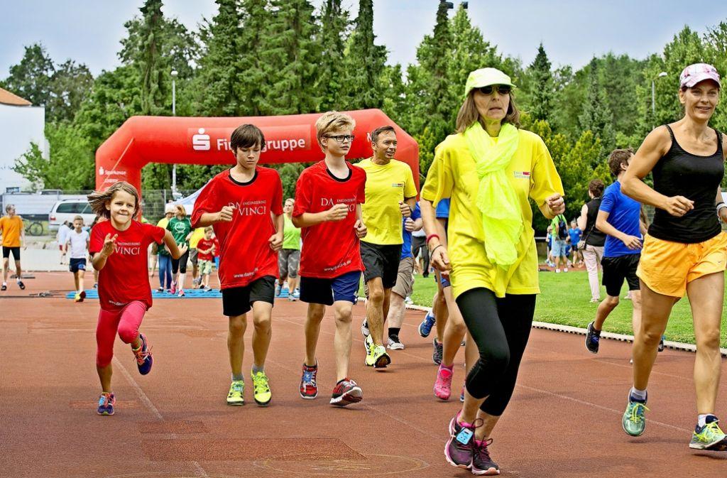 Laufen für  gute Zweck Foto: Lichtgut/Horst Rudel
