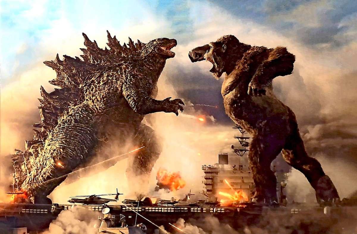 Godzilla kloppt sich mit King Kong: Das Studio Warner wird auch diese Megaprügelei unter ganz neuen Regeln starten. Foto: Warner Bros.