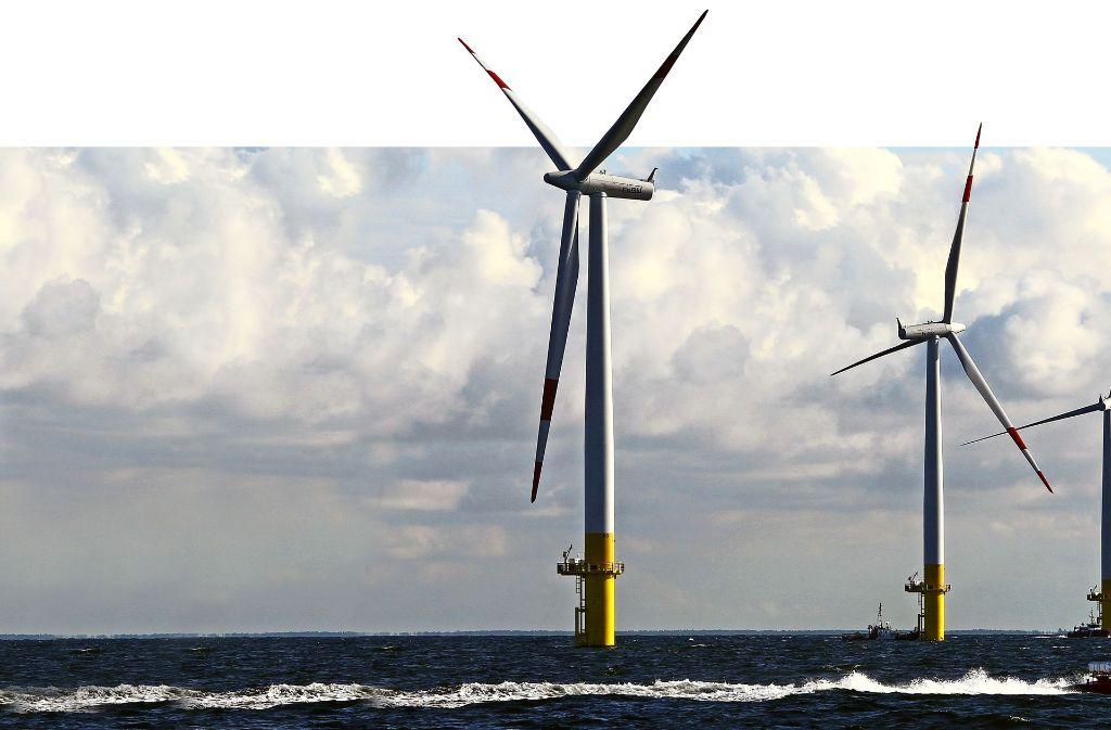 Die EnBW betreibt derzeit zwei Windparks im Meer. Baltic 1 (im Bild) in der Ostsee war 2011 der erste in Deutschland. Drei weitere Parks sind geplant oder bereits im Bau. Foto: dpa