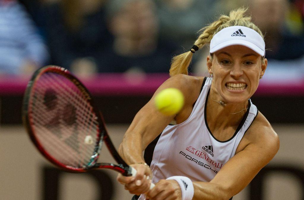 Angelique Kerber hat ihr Match gegen die ukrainische Spitzenspielerin Jelina Switolina verloren. Foto: dpa