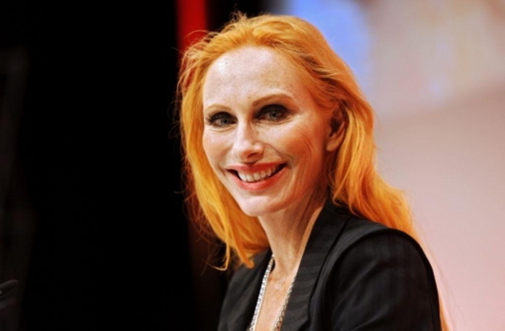 Andrea Sawatzki – eine Frau, die so frohgemut wie feurig strahlen. Foto: dpa