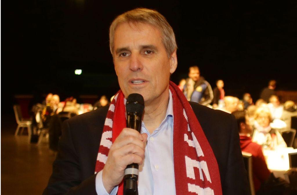 Der Aufsichtsrat des VfB Stuttgart, Wilfried Porth, hat zur Medien-Offensive ausgeholt. Foto: Baumann