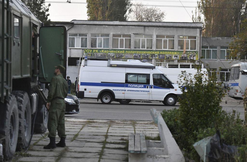 Ein junger Mann zündete in einer Schule in Kertsch eine Bombe. Foto: AP