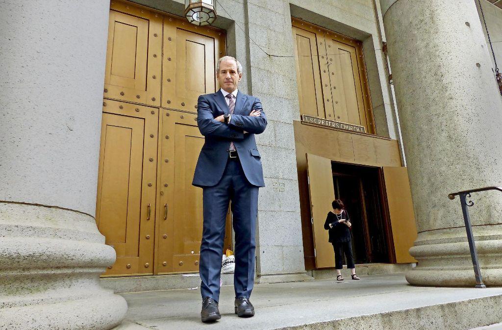Steve Berman verfolgt hartnäckig seine Ziele und klagt gegen die Autokonzerne.US-Anwalt Steve Berman will in Stuttgart Daimler und Bosch besuchen. Foto: Guhlich