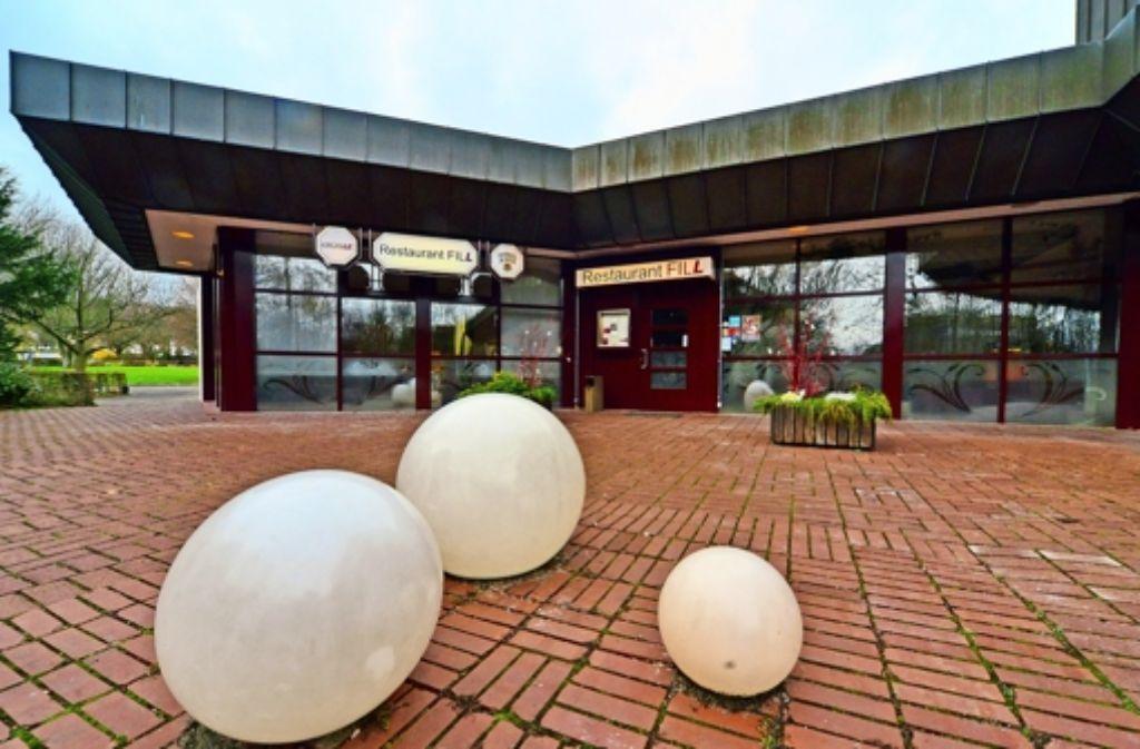 Neue Veranstaltungsräume für die Filderhalle könnten auf der Fläche des bisherigen Restaurants entstehen. Foto: Norbert J. Leven