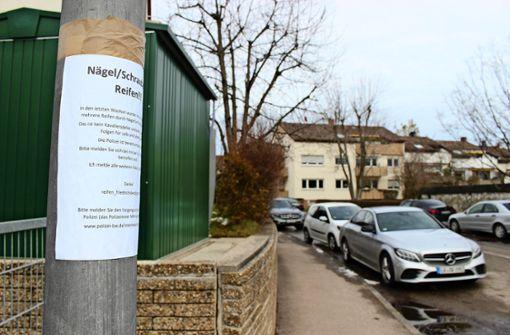 Reifenstecher beunruhigen eine Nachbarschaft