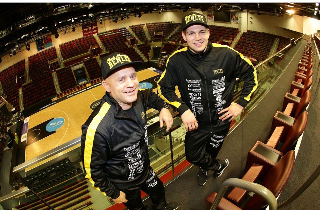 Vincent Feigenbutz (rechts) und Trainer Zoltan Lunka sind keine Männer der Bescheidenheit. Foto: Pressefoto Baumann