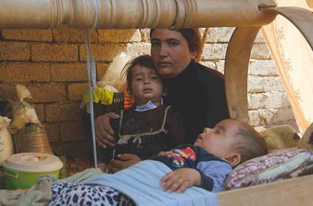 Viele jesidische Familien im Nordirak leben in Flüchtlingscamps Foto: dpa