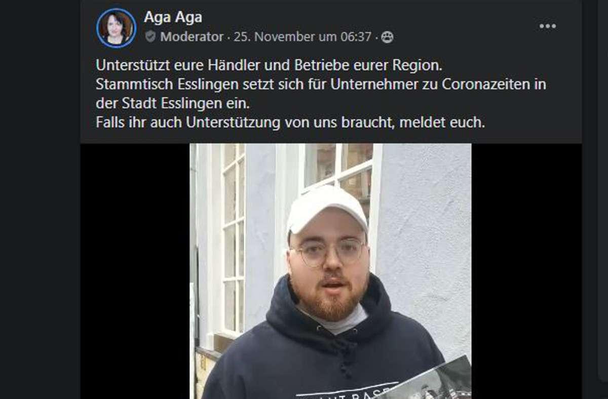 """Die Facebook-Gruppe """"Stammtisch Esslingen"""" möchte die kleinen Geschäfte unterstützen – mit Videos. Foto: oh"""