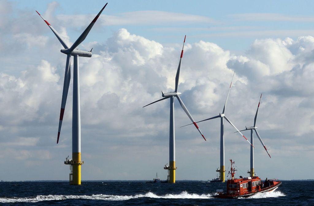 Der Windpark in der Nordsee, eines der größten Offshore-Projekte in Europa. Foto: dpa (Symbolbild)