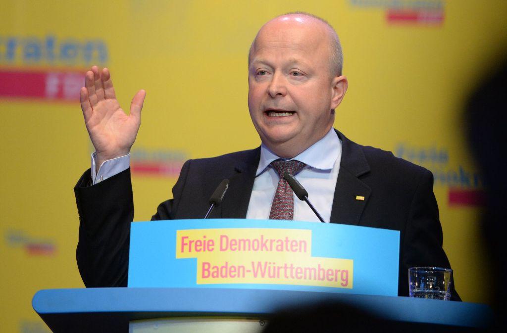 """Acht plus X"", sei das Wahlziel, sagt FDP-Landeschef Michael Theurer Foto: dpa"