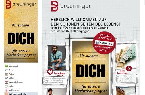 Stuttgarter Kaufhaus sucht echte Typen