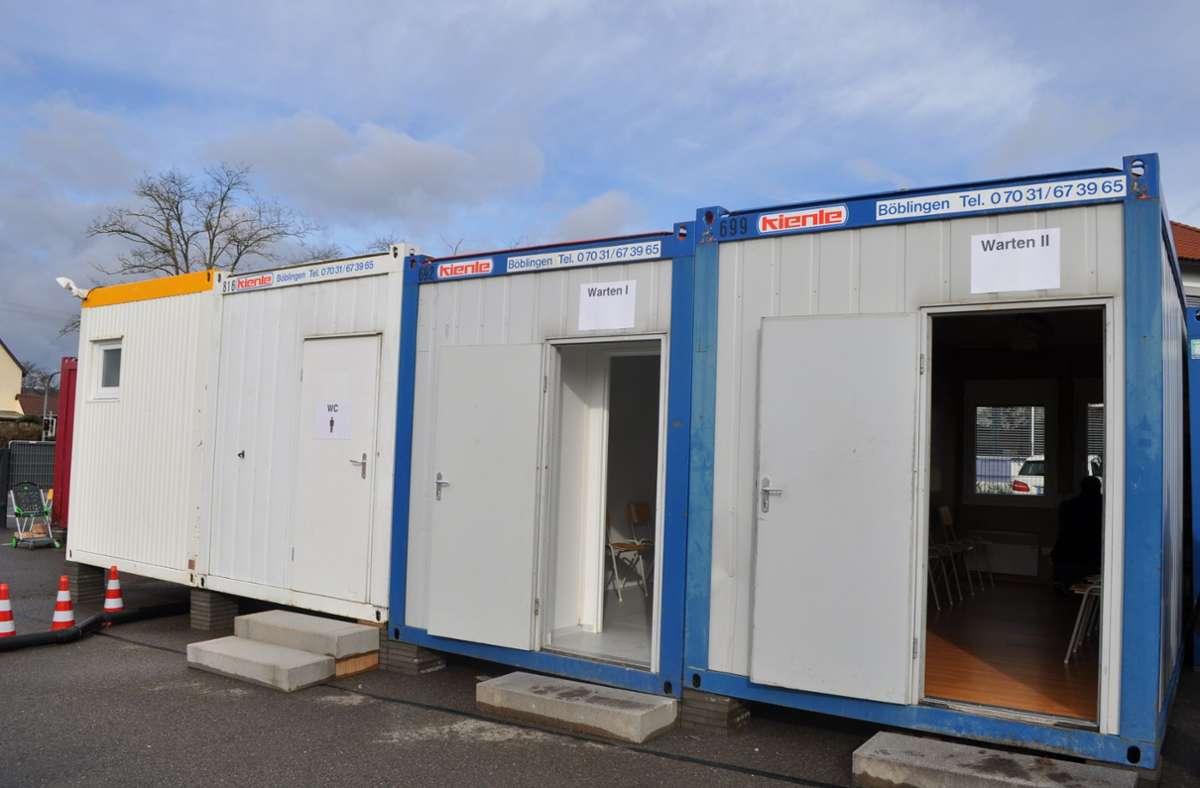 Das Corona-Testzentrum in Herrenberg wird nicht mehr gebraucht. Foto: Landratsamt