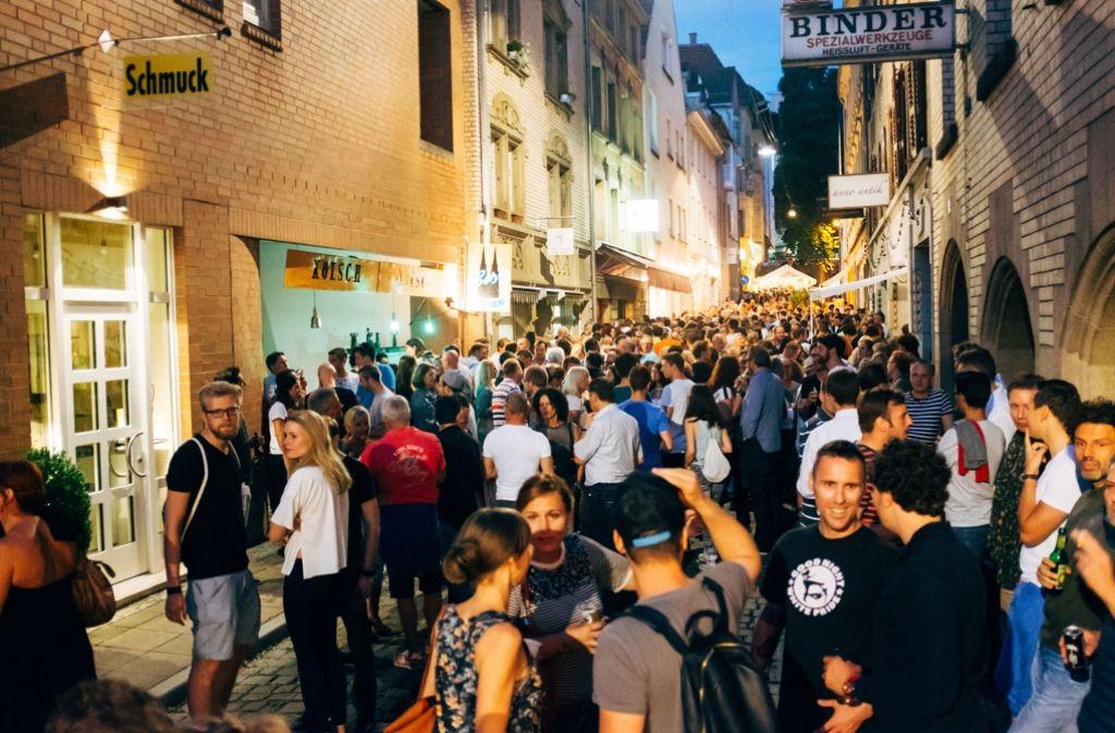 Das Bohnenviertelfest in Stuttgart war am Donnnerstagabend bestens besucht. Mehr Bilder vom ersten Abend gibt es in unserer Fotostrecke. Foto: 7aktuell.de/Gerlach