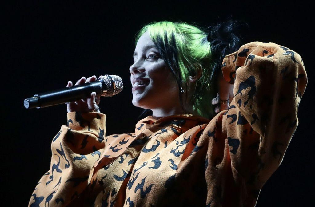 Große Ehre für Billie Eilish: Die junge Sängerin wird den Titelsong zum neuen James-Bond-Film präsentieren. Foto:imago/Zuma Press