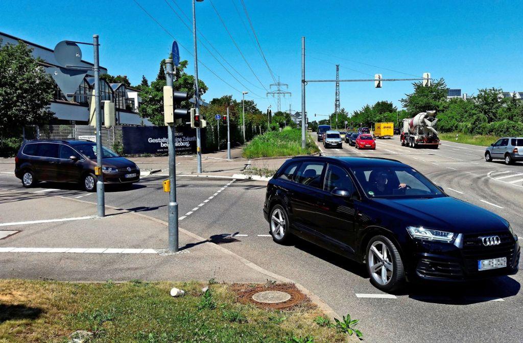Die Kreuzung Nord-Süd-Straße und Breitwiesenstraße ist bereits umgebaut worden. Weitere Knotenpunkte sollen folgen. Foto: Archiv/Götz Schultheiss