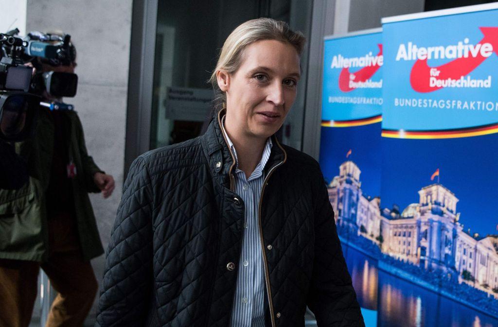 Die Co-Vorsitzende der AfD-Bundestagsfraktion, Alice Weidel (Archivbild) Foto: dpa