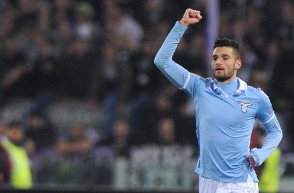 Antonio Candreva schießt bei Lazio derzeit die schönsten Tore. Foto: dpa