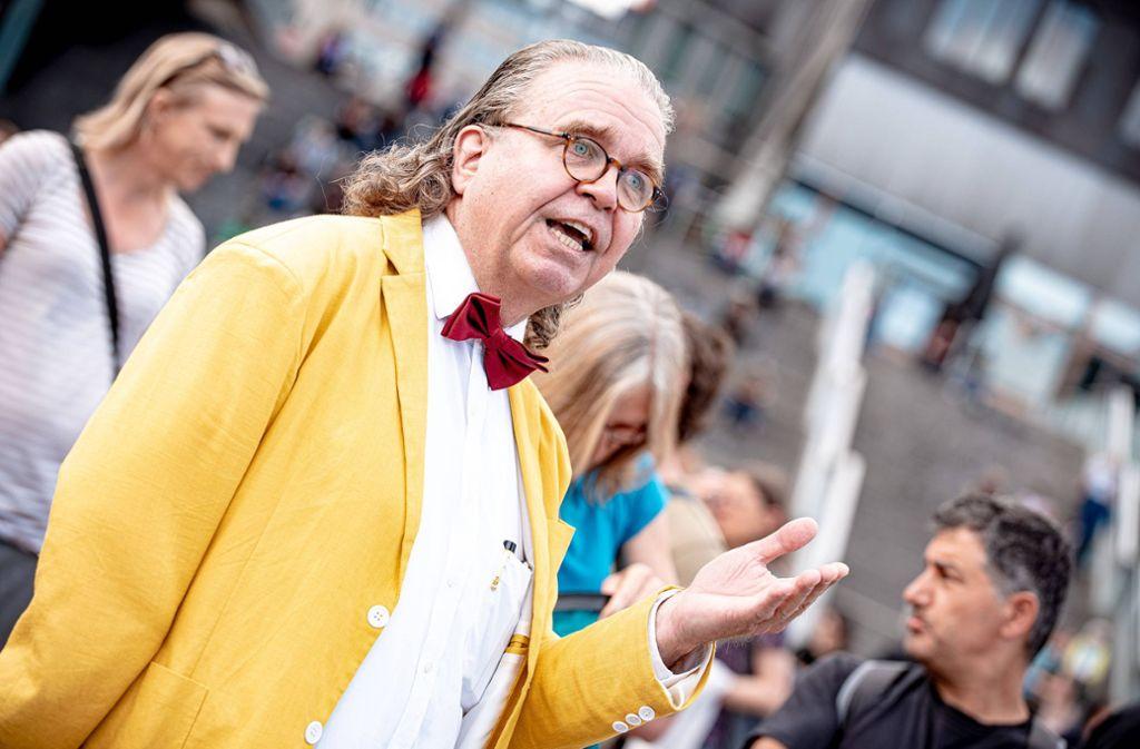 Der Abgeordnete Heinrich Fiechtner, hier bei einer Demonstration, provozierte im Landtag. Foto: 7aktuell.de/Marc Gruber