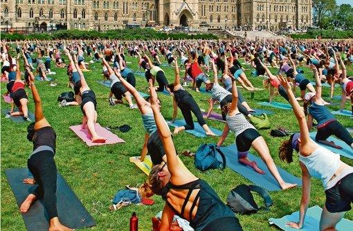 """Yoga auf dem """"Hill"""""""