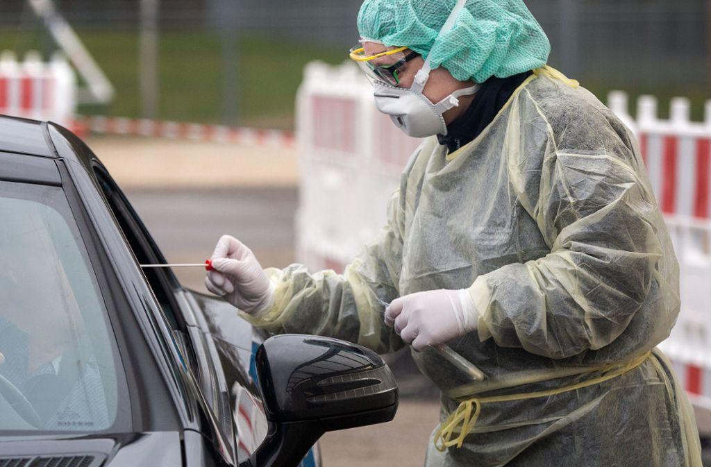 Der Vorrat an Schutzausrüstung reicht noch bis Mitte nächster Woche. Foto: Ines Rudel/Ines Rudel