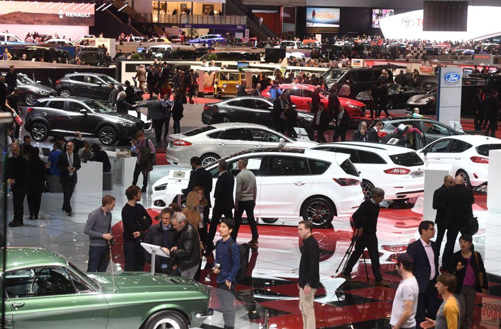 Der Genfer Autosalon ist eine der weltweit wichtigsten Messen der Branche. Foto: dpa