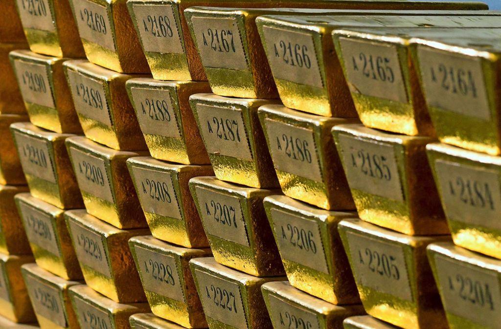 Der Goldschatz der Bundesbank in Frankfurt zählt zu den größten weltweit. Foto: dpa
