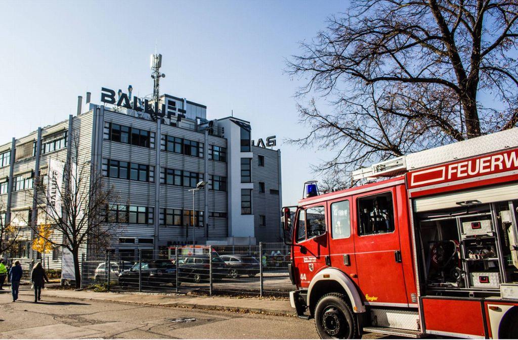 Die Feuerwehr musste am Freitag zu der Neuhausener Firma ausrücken. Foto: 7aktuell.de/Max Kurrer