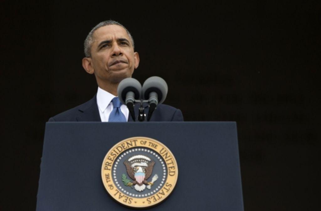 Kann auch nicht immer so, wie er möchte: Barack Obama Foto: AP