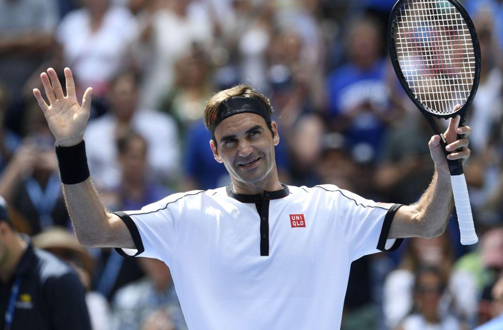 Roger Federer ließ seinem Kontrahenten nicht den Hauch einer Chance. Foto: AP