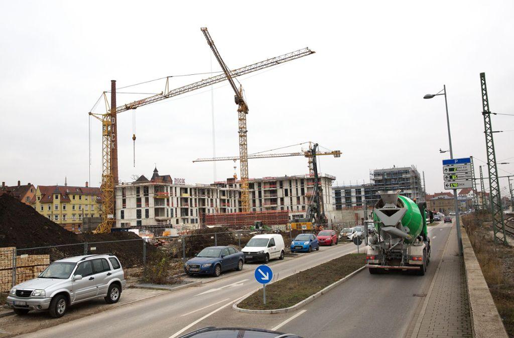 Einst rauchten hier die Schlote der Maschinenfabrik Esslingen. Foto: Ines Rudel