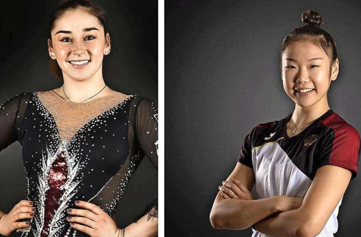 Alexandra Tikhonovich (links) und Anni Qu haben sich aus der  Nationalgruppe verabschiedet. Foto: Deutscher Turner-Bund