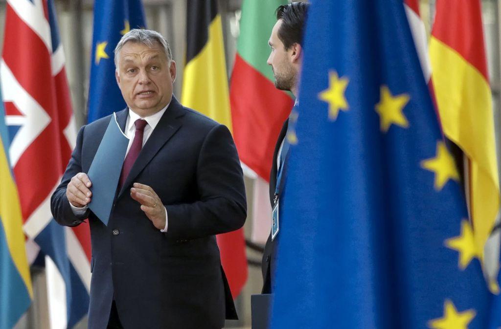"""Viktor Orban: Kritiker in den eigenen Reihen der EVP nannte Ungarns starker Mann """"nützliche Idioten"""". Foto: AP"""